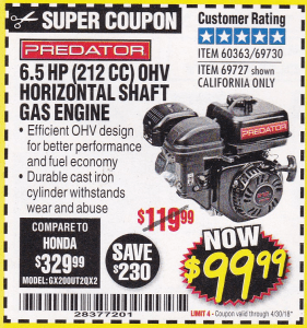 Harbor Freight Monthly Coupons Expiring 4/30/18 (Over 100 Coupons