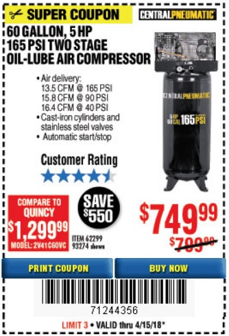 Harbor Freight HIGH POWERED DISCOUNTS Price Tracking Expires 4/15/18
