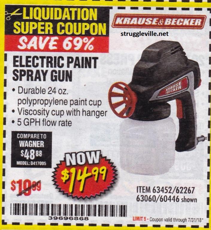 Electric Paint Spray Gun – Expires 7/31/18 – 63452 62267