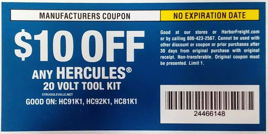 Harbor Freight 20% Off Coupon! - Struggleville