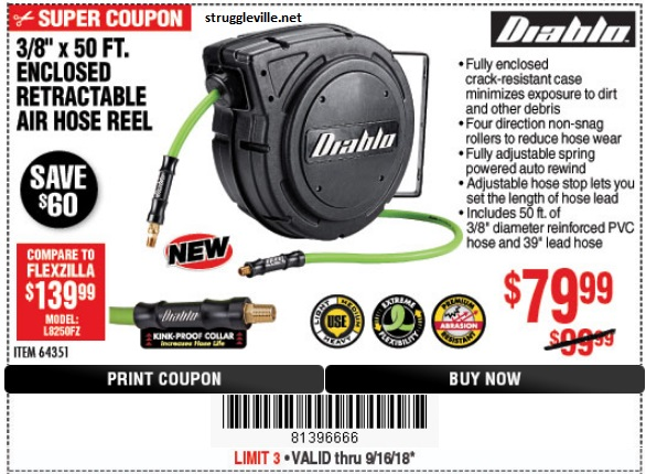 Harbor Freight Discover Our New Diablo Hose Reels Built To