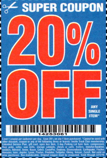 Harbor Freight 20 Off Coupon Struggleville