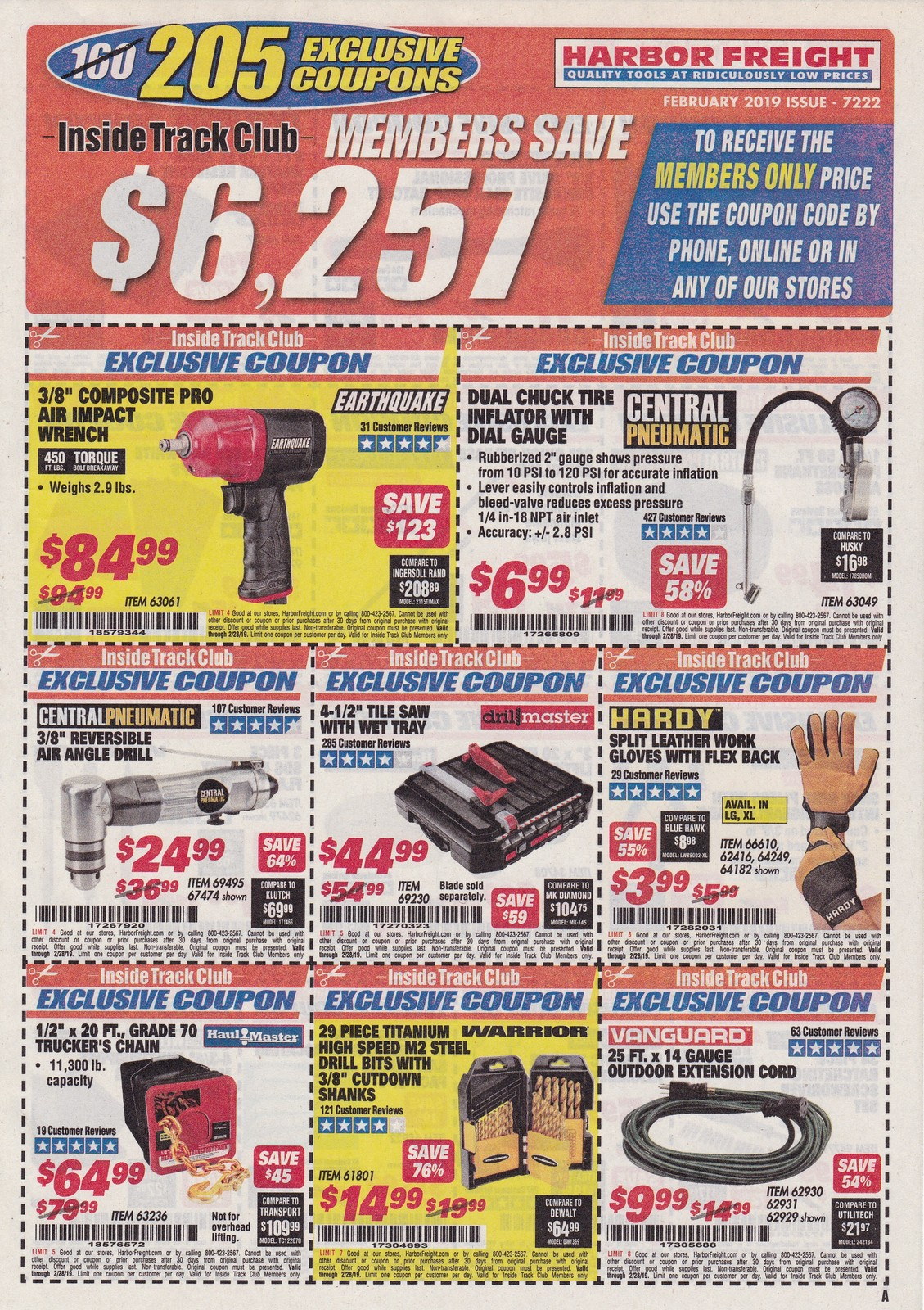 Harbor Freight Inside Track Club Coupons February 2019 Struggleville