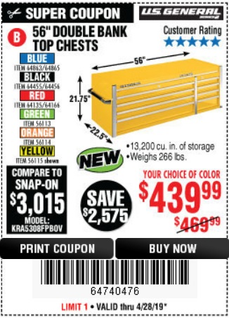 Fleet Farm Coupons >> Harbor Freight: You'll love this! U.S. GENERAL SERIES 2 ...