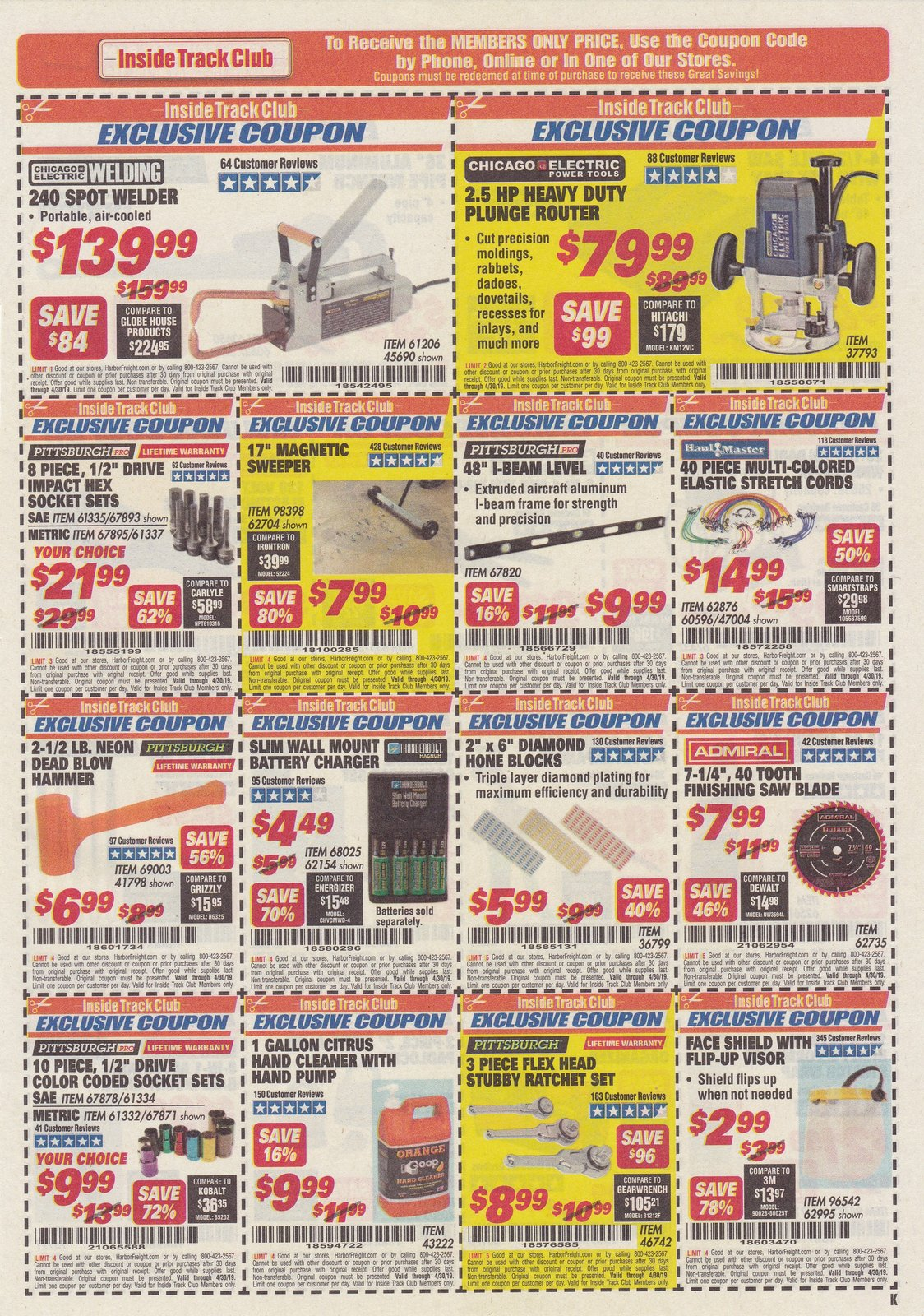 Harbor Freight Inside Track Coupons April 2019