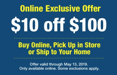 $10 off purchase of $100 at Farm And Fleet.