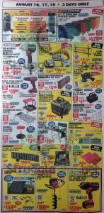 Harbor Freight August parking lot sale ad page 2