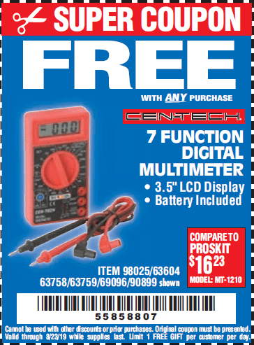 Harbor Freight Free Item Coupons! – Struggleville