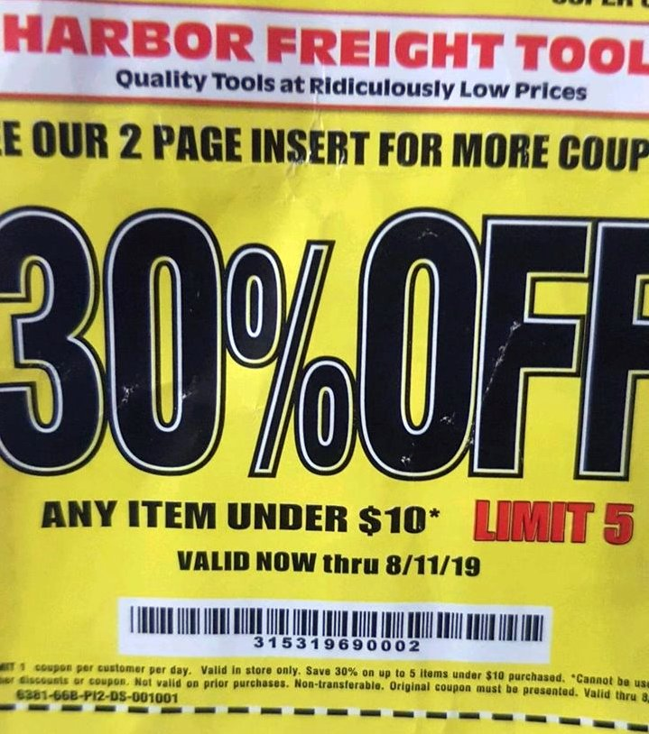 Fleet Farm Coupons Save 15 With July 19 Coupon Promo Codes >> Harbor Freight 20 Off Coupon Struggleville