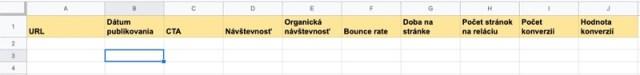tabuľka content audit