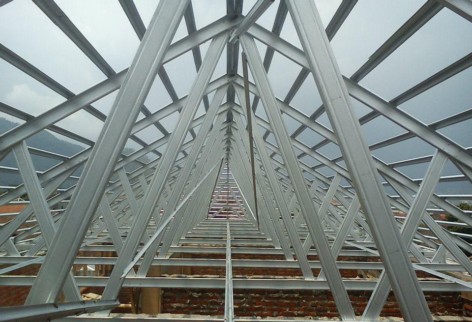 dimensi truss baja ringan harga jual rangka atap sni murah