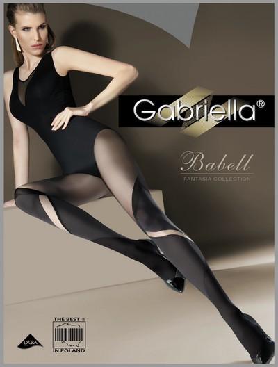 Bezaubernde Strumpfhose in raffinierter Overknee-Optik Babell von Gabriella, schwarz, Gr. S