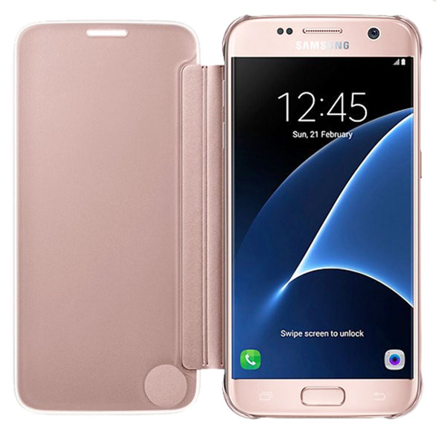 Samsung-Clear-view-cover-for-galaxy-S7-Pink