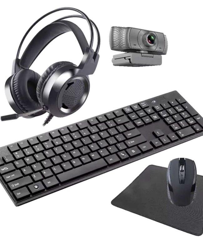 LASER-5-IN-1-Wireless-Keyboard,-Mouse,-Headset,-Webcam-Combo