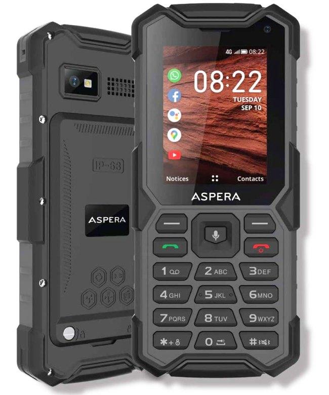 Aspera-R40-(4G,-Rugged-Phone,-Keypad,-IP68)---Black