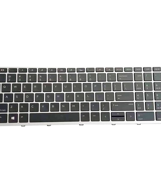 Keyboard-For-HP-Probook-450-G5-With-Backlight---Silver-Frame