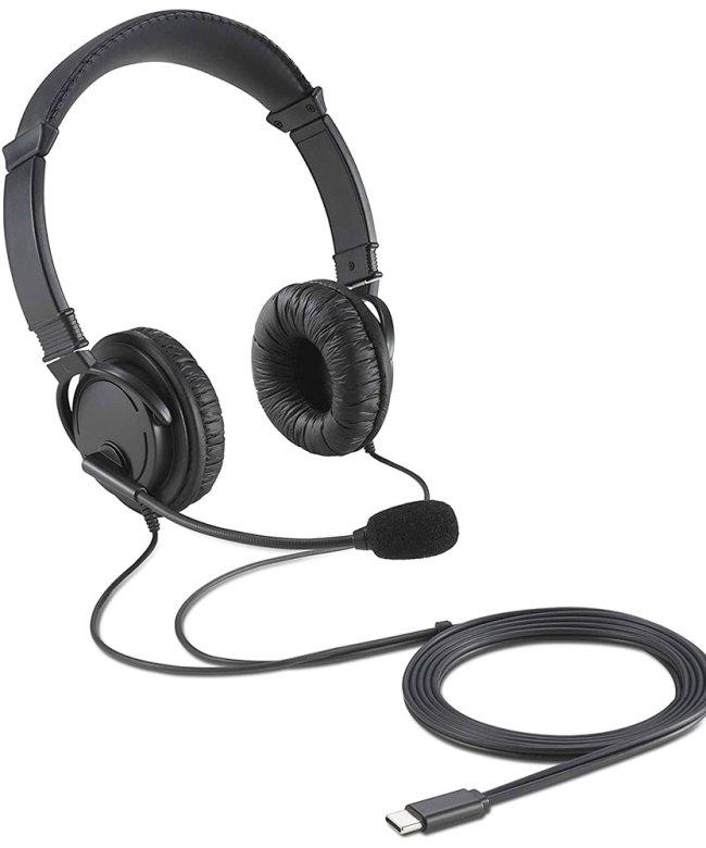 Kensington-USB-C-HI-FI-Headphones-With-Mic-(K97457WW-KT)---Black