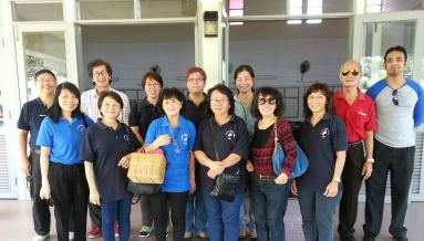 The Pastoral Care delegation led by Vera Chin.