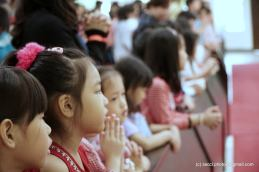 Some of the children and young people seen during the Mass.