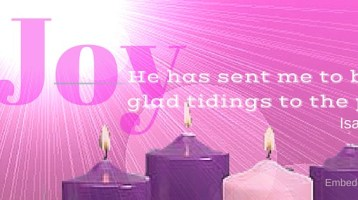 3rd Sunday Advent Candle Pink