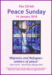 WORLD PEACE SUNDAY—14TH JANUARY 2018