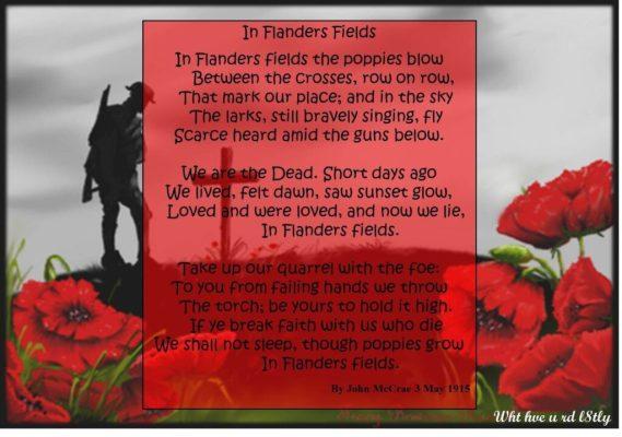 Remembrance Sunday John McCrae