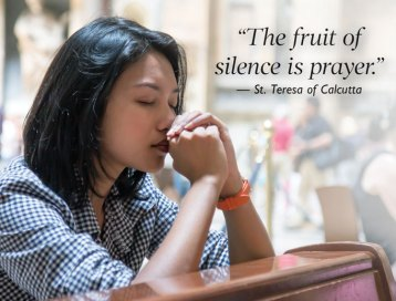 Philip Kosloski - Prayer to maintain a silent spirit during Lent