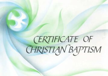 Fr. Simon - Come and Claim your Baptism Certificates!