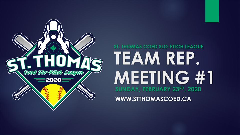 2020 Team Rep Meeting #1- February 23rd