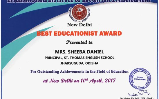 Best Educationist Award 2017