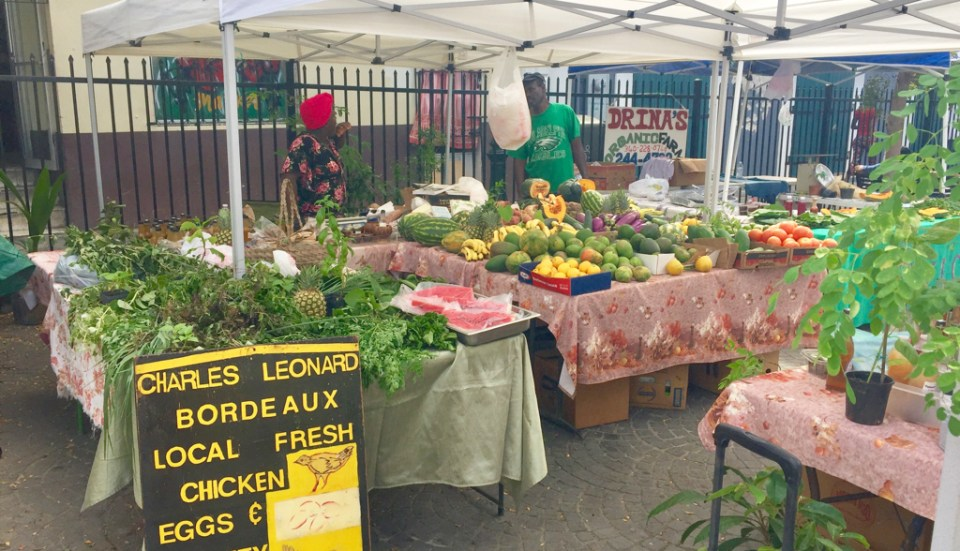 Charles Leonard's produce stand is full of local produce at Market Square.
