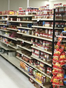 Store shelves are getting picked clean in advance of Hurricane Maria.