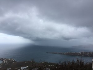 The north shore of St. Croix as Hurricane Maria draws near.