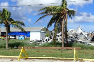 The V.I. Department of Agriculture's barn, although damaged, houses hundreds of St. Croix' homeless pets.