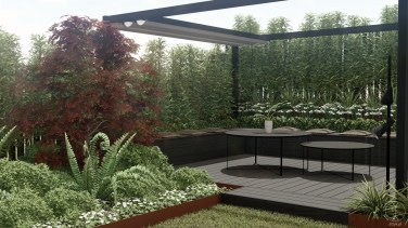 Modern garden design, Baden, Switzerland - Project by STTYK - Visualization 21