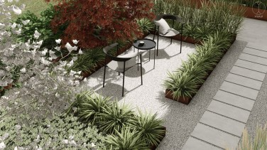 Modern garden design, Baden, Switzerland - Project by STTYK - Visualization 3
