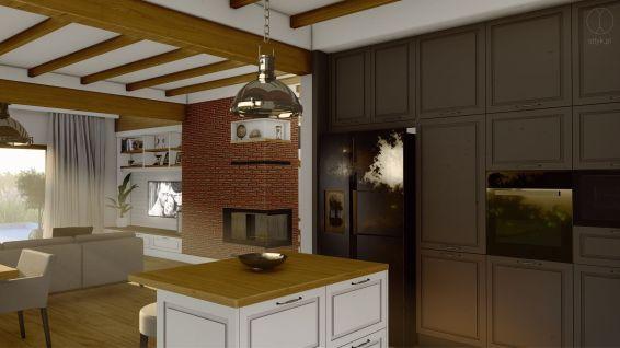 Projekt wnętrza domu w Otominie k. Gdańska - Projekt: Pracownia STTYK, Joanna Polewczak, Natalia Wańkowicz - Wizualizacja 30