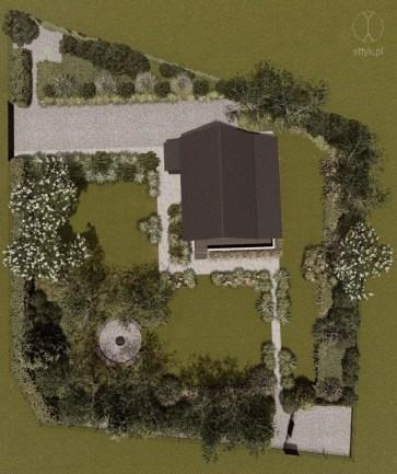 Projekt ogrodu w stylu skandynawskim na Kaszubach – Projekt: Pracownia STTYK, Joanna Polewczak, Natalia Wańkowicz – Wizualizacja 21