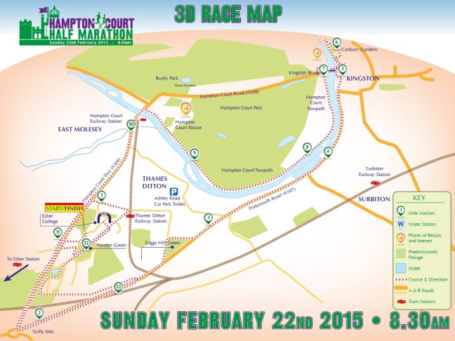 The Half Marathon Route