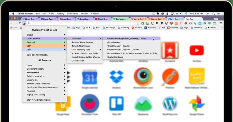 Ghost Browser screenshot