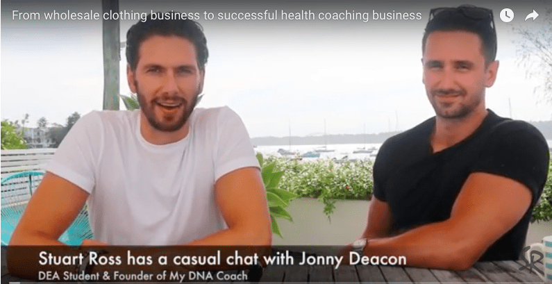 From wholesale clothing business to successful health coaching business – Interview with Jonny Deacon, Founder of My DNA Coach