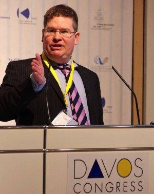 Stuart Bruce speaking at Davos World Communication Forum photo