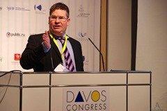 Stuart Bruce speaking at the World Communication Forum in Davos
