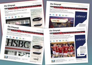 Telegraph website montage