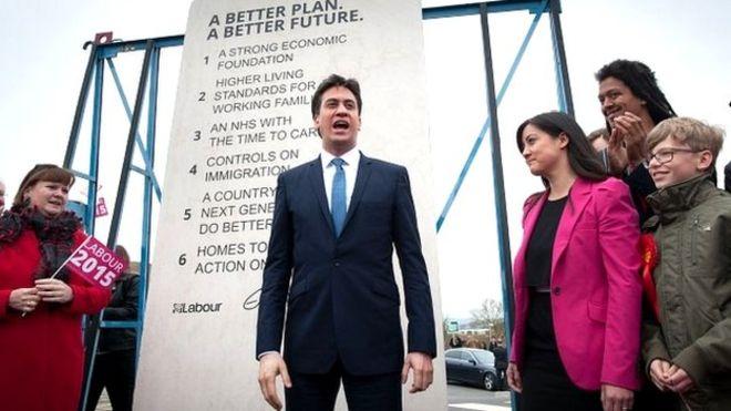 Photo of Ed Miliband unveiling #edstone