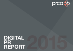 PRCA digital PR report 2015