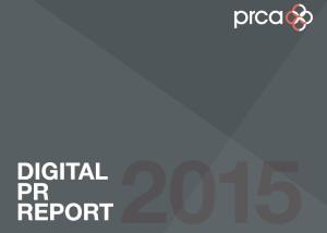 PRCA digital PR report 2015