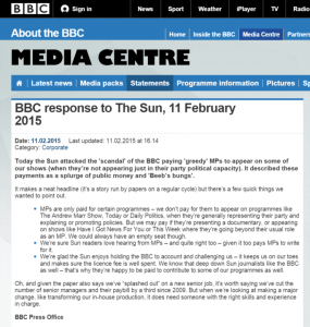 BBC rebuttal of The Sun graphic