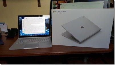 Microsoft Surface Book and box photo