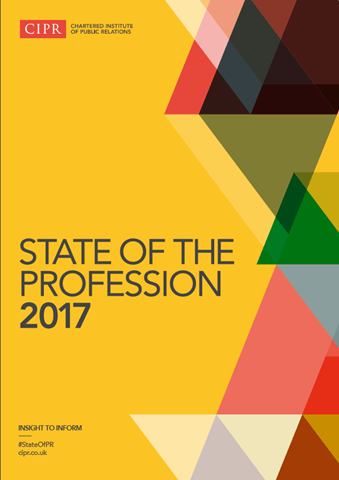 CIPR State of the Profession 2017 cover